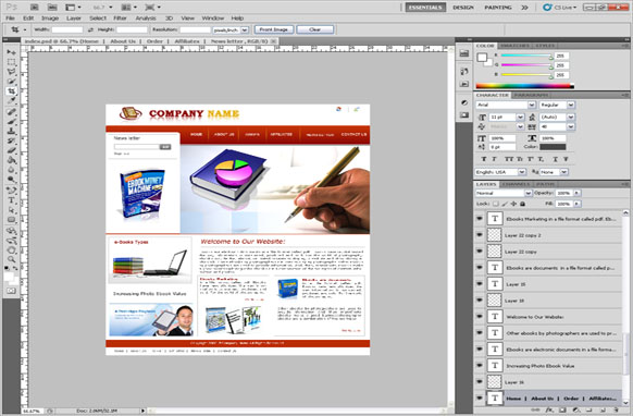 Business PSD Template Edition 5