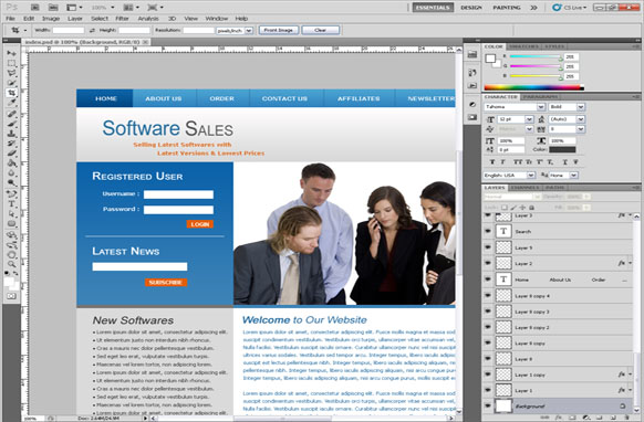 Software Sales PSD Template