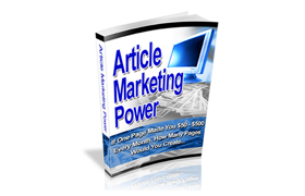 Article Marketing Power