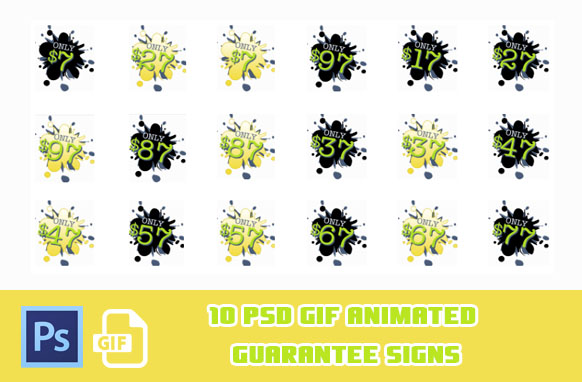 19 PSD GIF Price Badges