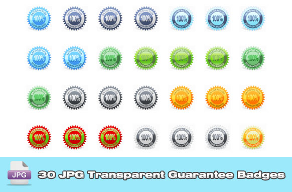 30 JPG Transparent Guarantee Badges