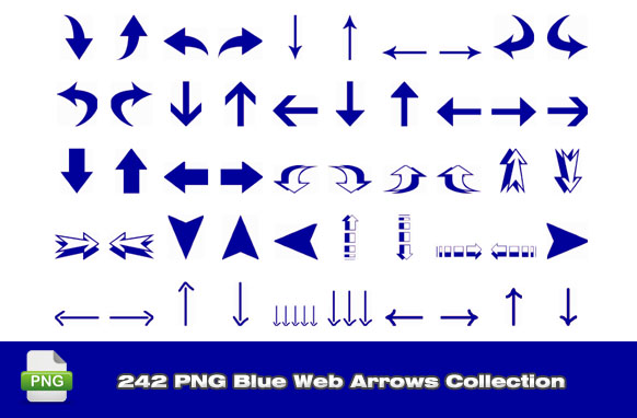 242 PNG Blue Web Arrows Collection
