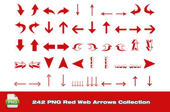 242 PNG Red Web Arrows Collection