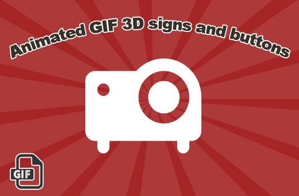 Animated 3D GIF Signs and Buttons