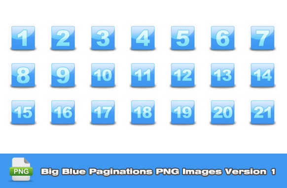 Big Blue Paginations PNG Images Version 1