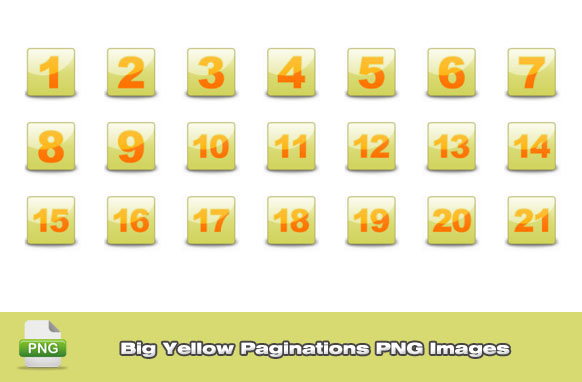 Big Yellow Paginations PNG Images