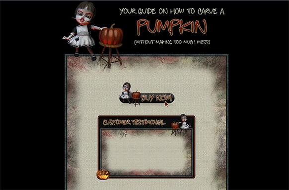 Carve a Pumpkin WP HTML Blogger Template