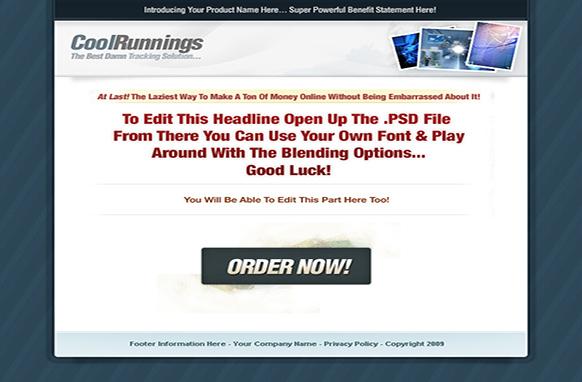 Cool Runnings HTML PSD Template