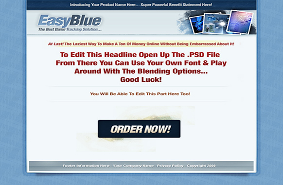 Easy Blue HTML PSD Template