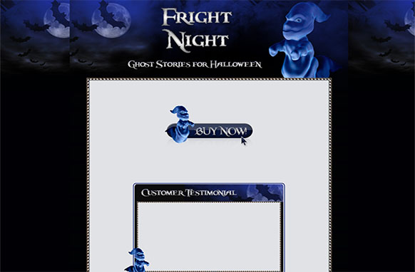 Fright Night WP HTML Blogger Template