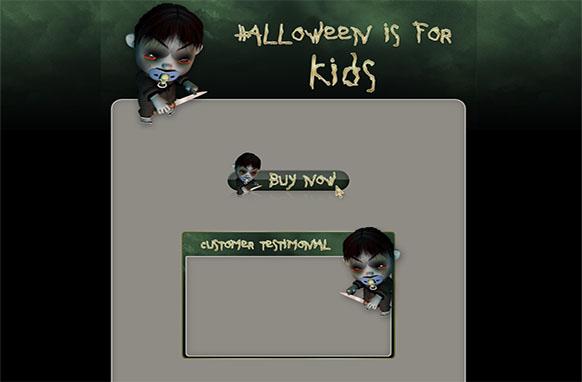 Kids Halloween WP HTML Blogger Template