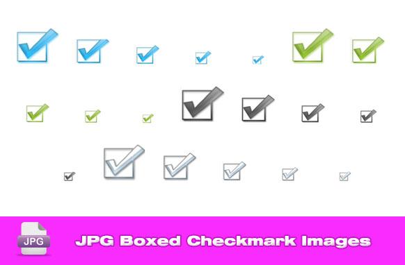 JPG Boxed Checkmark Images