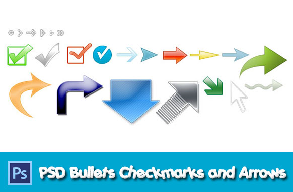 PSD Bullets Checkmarks and Arrows