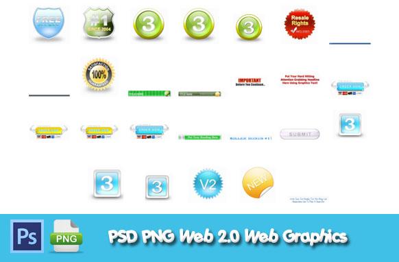 PSD PNG Web 2.0 Web Graphics