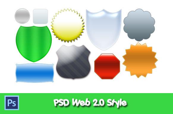 PSD Web 2.0 Style Badges