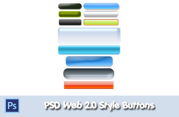 PSD Web 2.0 Style Buttons