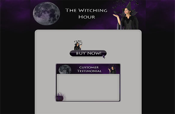The Witching Hour WP HTML Blogger Template