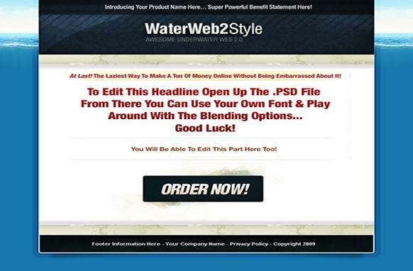 Web 2 Style HTML PSD Template