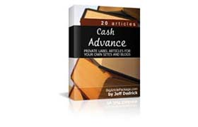 Cash Advance PLR Articles