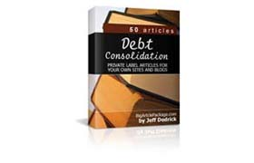 Debt Consolidation PLR Articles