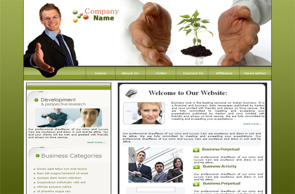 Business HTML and PSD Template Edition 1