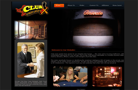 Club Private HTML and PSD Template