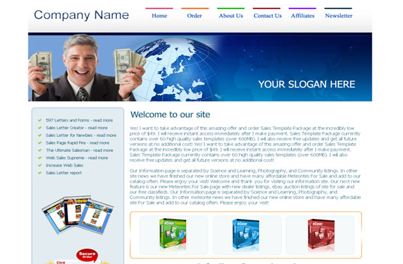 Company Money HTML and PSD Template