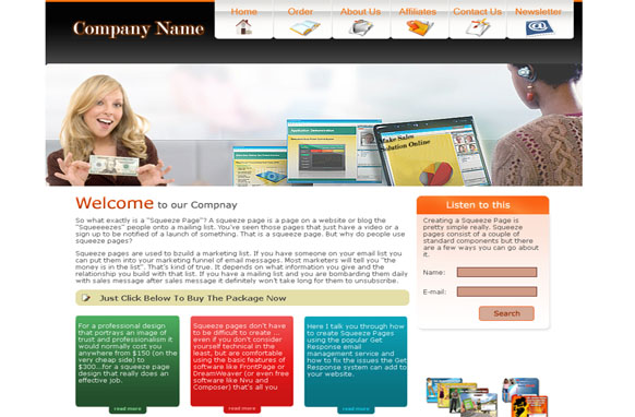 Computer Money HTML and PSD Template