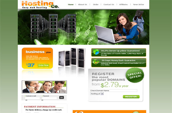 Easy Web Hosting HTML and PSD Template