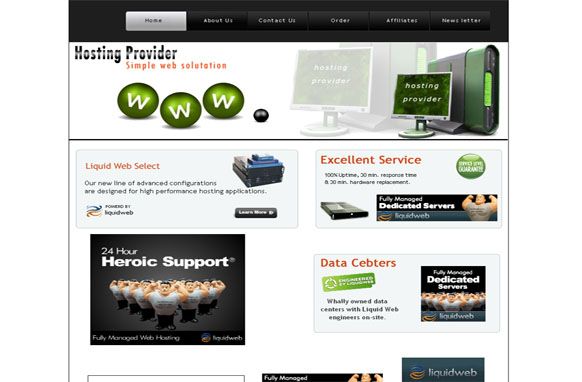 Hosting Provider HTML and PSD Template