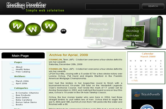 Hosting Provider WP Theme and PSD Template