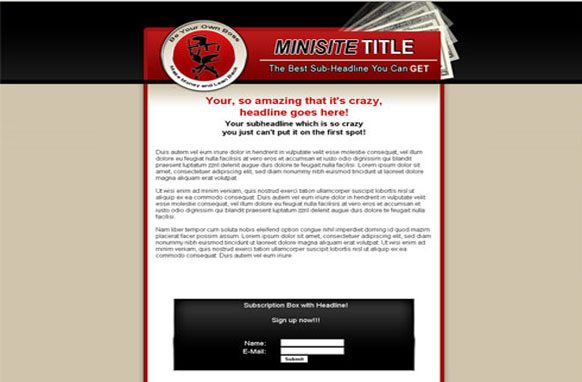 Minisite HTML and PSD Template Edition 1