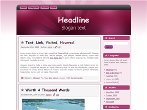 Pink Themed WP Theme