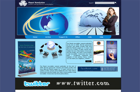 Planet Newsletter HTML and PSD Template