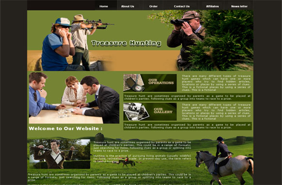 Treasure Hunting HTML and PSD Template