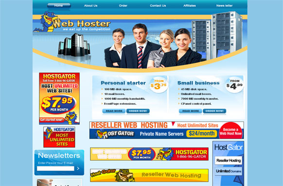 Web Hoster HTML and PSD Template