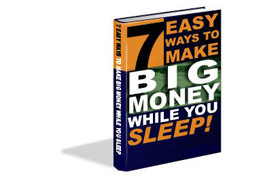 7 Easy Ways To Make Big Money While You Sleep