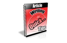 Article Writing Quick Tips
