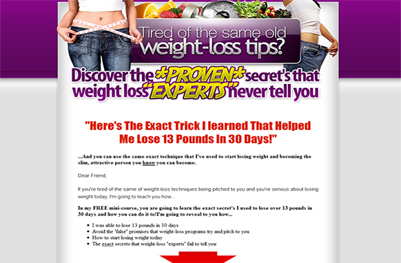 Healthy Weight Loss Success HTML Ministe Site Plus Guide