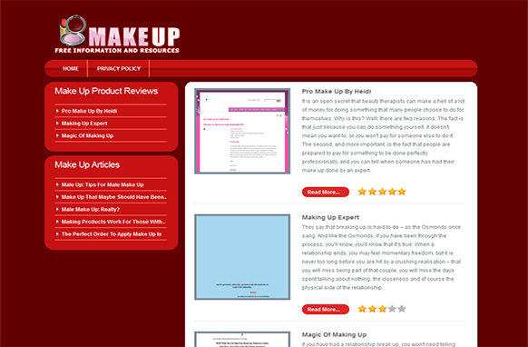 Makeup HTML WP Review Site