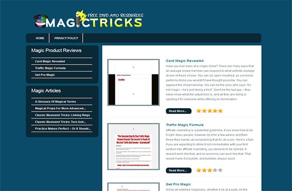 Magic Tricks HTML Review Site