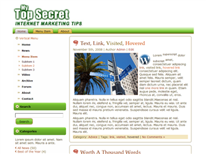 Top Secret WordPress Theme