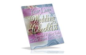 Year Long Wedding Checklist
