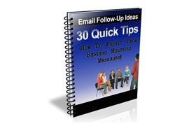 30 Quick Tips Email Follow Up Tips