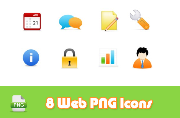 8 Web PNG Icons