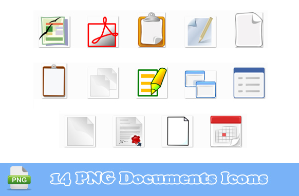 14 PNG Documents Icons