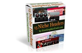 15 Niche PSD JPG Headers