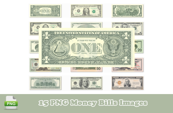15 PNG Money Bills Images