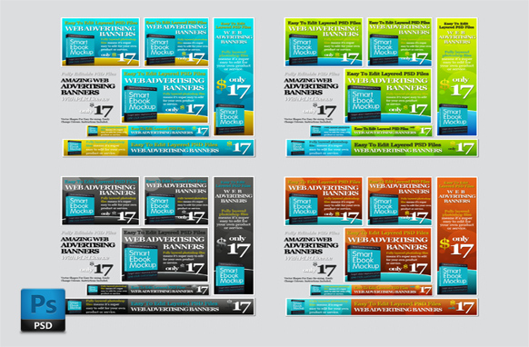 24 Effective PSD Web Advertising Banners