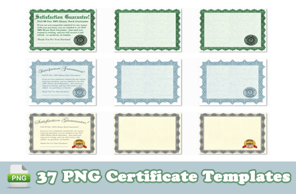 37 PNG Certificate Templates